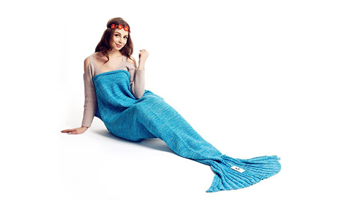 Kpblis presents RED Knitting Mermaid Blanket with scales for Kids and Adults 71