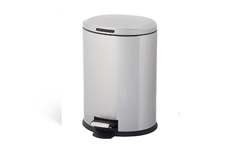 HomeZone (12-Liter) (Stainless Steel) Trash Can