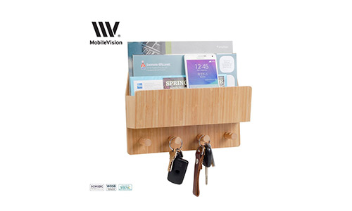 Mobile Vision Bamboo Mail and Letter Wall Mount