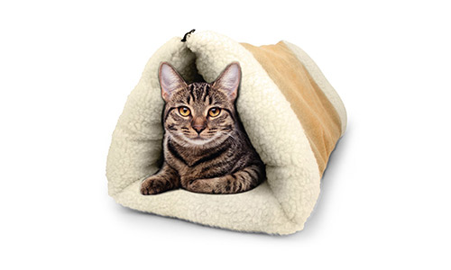 PET PALACE 2-in-1 Pet Bed for Cats/Dogs/Kittens