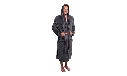 Ross Michaels Mens Hooded Robe