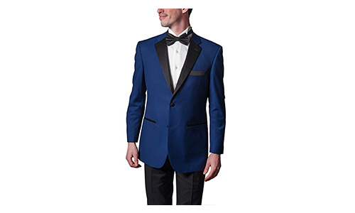 Adam Baker Men's Classic Fit Two-Piece Notch Lapel Formal Tuxedo Suit - Available in Many Sizes & Colors
