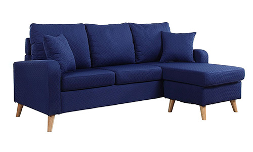 Divano Roma Furniture Mid Century Modern Sectional Sofa
