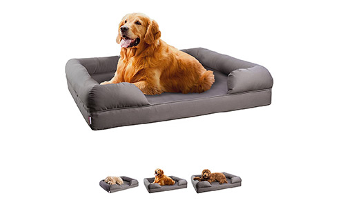 Orthopedic Sofa Bed for Puppy, Dog or Cat with Memory Foam Mattress by PELTO