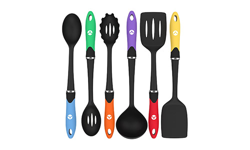 Vremi Cooking Utensils presents Kitchen Utensil Set Tools for Nonstick Cookware