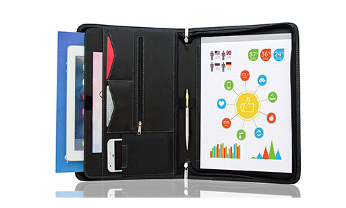 Zippered Padfolio Portfolio Binder by Stylio