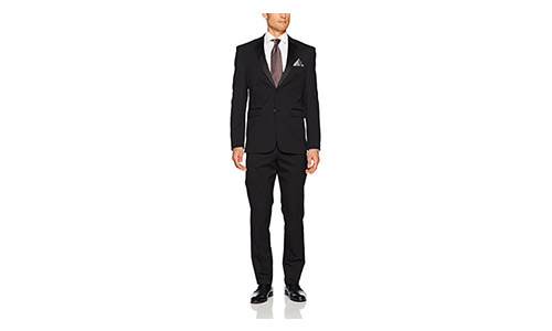 Original Penguin Men's Solid Slim Fit Tuxedo, Black