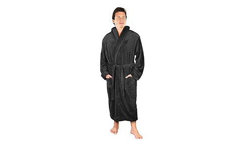 NY Threads Men's Fleece Bathrobe