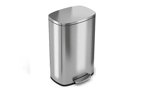 iTouchless SoftStep (13.2 Gallon) Stainless Steel Kitchen Trash Can
