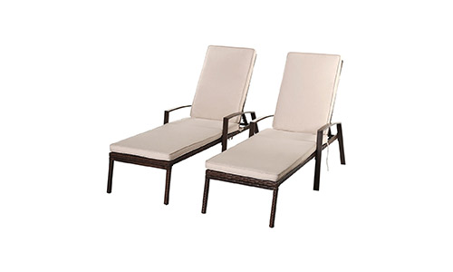 Tangkula Wicker Chaise Lounge Chair