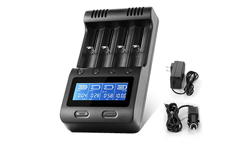 Zanflare C4 LCD Display Speedy Universal Battery Charger