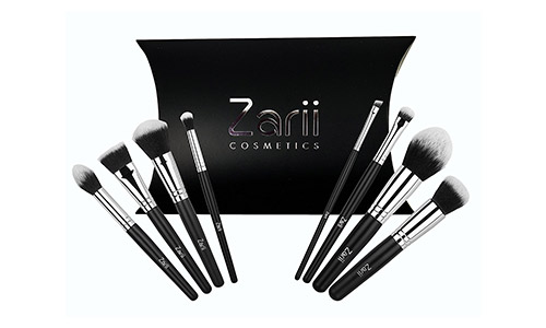 Makeup Brush Set by Zarii Cosmetics Professional Essentials Kit with Airbrush Like Finish Affordable Luxury for Women 8 PCS Best Quality Guarantee