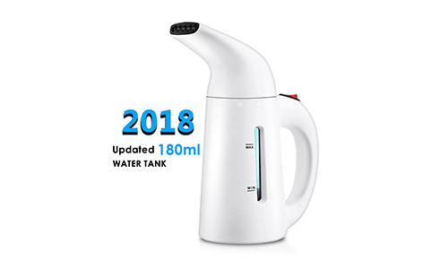 Travel Garment Steamers for Clothes, Updated 180ml Fast-Heat Portable Garment Steamer Travel Steamer Handheld Fabric Steamer Perfect for Home and Travel, Travel Pouch and Heat-resistant Glove Included