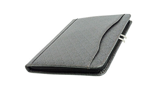 Zipper Binder Leather Padfolio by BOONAFIT PADFOLIO