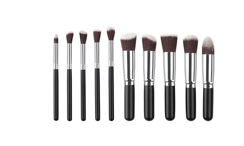 10 Piece kabuki Makeup Brush Set. Hand-Made Powder, Foundation, Buffing, Concealer, Blending Brushes and More. Professionally Endorsedh Affordable Luxury for Women 10PCS (006)