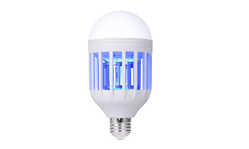 Boomile Bug Zapper Light Bulb, Electronic Insect Killer, Mosquito Zapper Lamp, Fly Killer, Built-in Insect Trap, 110V E26/E27 Light Bulb Socket Base for Home Indoor Outdoor Garden Patio Backyard