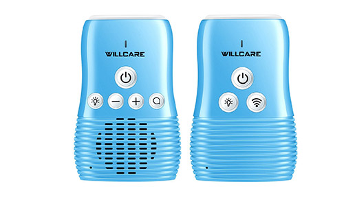 Willcare Upgraded DBM-8 Baby Monitor with Two-Way Audio, Smooth Night Light, Rechargeable Battery Operated Parent Unit & Long Range, DBM-8 2.(Blue)