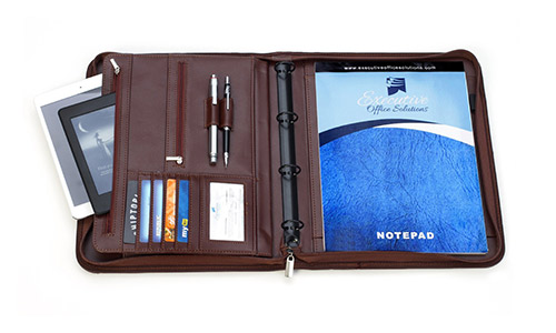 Executive Business Padfolio Portfolio Case, PU Leather by Executive Office Solutions