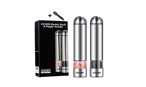 ICCKER Electric Salt and Pepper Grinder