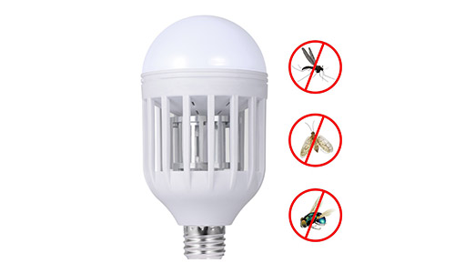Sunnest 110V Mosquito Killer Lamp, Bug Zapper Light Bulb, Electronic Insect Killer, Fits in E26/E27 Light Bulb Socket, Mosquito Trap Night Lamp for Indoor Outdoor Porch Deck Patio Backyard