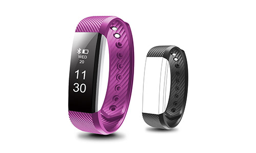 Waterproof Fitness Tracker, Besyoyo Smart Bracelet with Sleep Monitor, Sports Activity Tracker Pedometer Calories Counter Smart Watch for Kids Women Men, with Replacement Band for IOS & Android