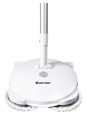 COSTWAY Electric Spin Mop, Cordless Mop with Adjustable Handle, Floor Cleaner