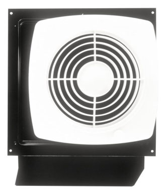 Broan-Nutone 509S Through-the-Wall Ventilation Fan, White Square Exhaust Fan, 6.5 Sones, 180 CFM, 8