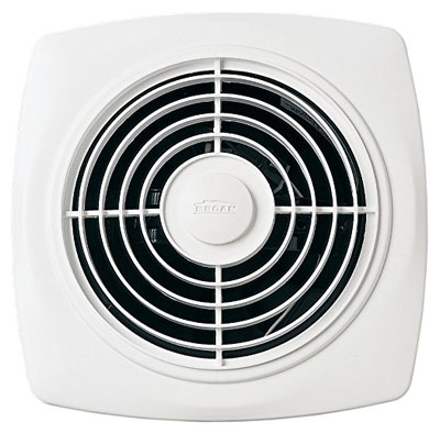 Broan-Nutone 508 Through-the-Wall Ventilation Fan, White Square Exhaust Fan, 7.0 Sones, 270 CFM, 10