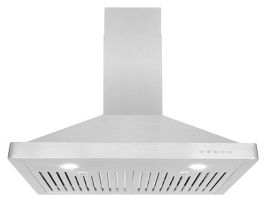 Cosmo 63175 30-in Wall-Mount Range Hood 760-CFM Ductless Convertible Duct Kitchen Chimney-Style Over Stove Vent LED Light