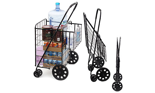 MOD Double Basket Shopping Cart