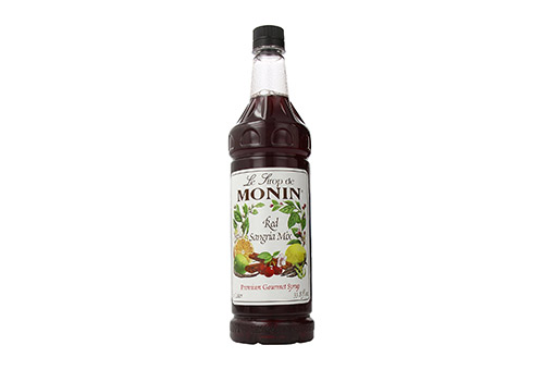 Monin Flavored Syrup, Red Sangria Mix, 33.8- Ounce Plastic Bottles