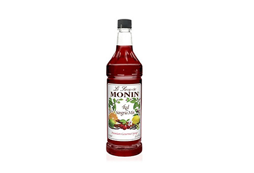 Monin Flavored Syrup, Red Sangria Mix, 33.8- Ounce Plastic Bottle