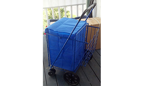laundry cart Swivel Wheels Folding Cart