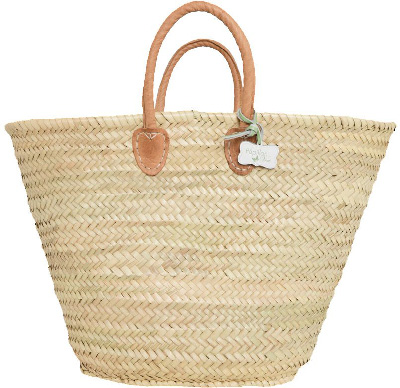 Le Papillon Vert Olivia Traditional French Style Market Shopping Basket Natural