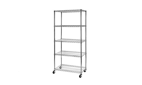 Seville classic ultra-durable 5 tier steel wire shelving