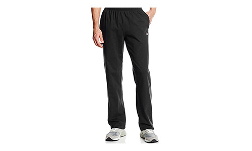 Open Bottom Light Weight Men's Jersey Pants by Champion