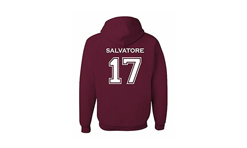 Adult Vampire Diaries Salvatore 17 2-Sided Hoodie
