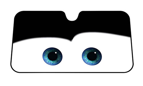 Cartoon Eyes Front Auto Car Windshield Sun shade Sun Visor - Black eyes