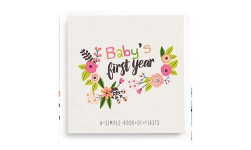 Little Animal Lover Babys First Year Memory Book A Simple Book of Firsts