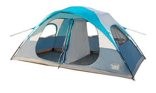 Timber Ridge 8 Person Family Camping Tent 2 Doors 2 Rooms 3 Seasons with Carry Bag and Rain