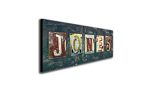 Personal Prints Personalized Vintage, Neon, Urban, Architecture Signs Name Alphabet Art (Block Mount - 9.5 x 26)