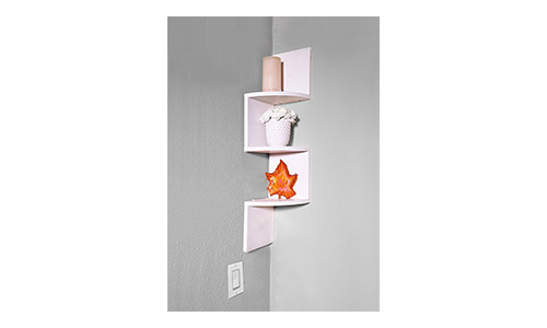 Zig Zag 3-Tier Wall Mount Shelves by Adorn Home Essentials