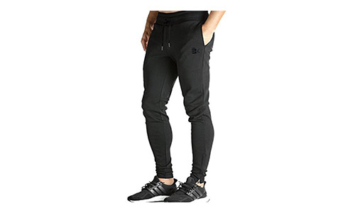 BROKIG presents Casual Fit Men's Joggers Pants with Zipped Bottom and Pockets