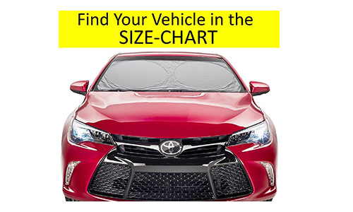 Windshield Sun Shade HASSLE-FREE SIZE-CHART for Truck Suv Minivan Uv Protector Cover Shields Auto Front Window Keeps Cool Fits Various Vehicles