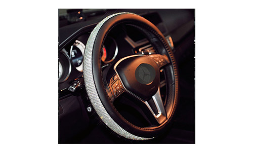 Sino Banyan Cystal Steering Wheel Cover,with PU Leather Bling Bling
