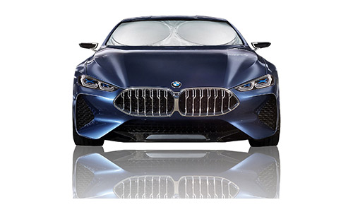Magnelex Car Windshield Sunshade (Large) + Bonus Steering Wheel Cover Sun Shade. Premium Quality Reflective Polyester Material Blocks Heat & Sun and Keeps Your Vehicle Cool
