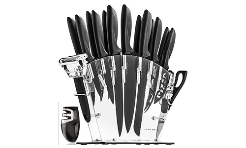 Stainless Steel Knife Set with Block -13 Kitchen Knives Set