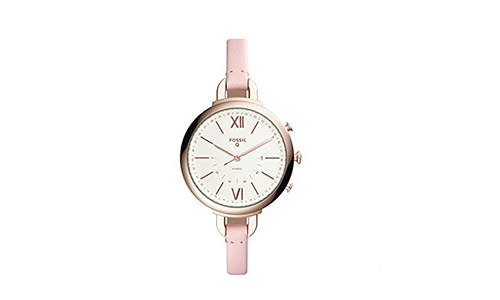 Fossil Q Women's Annette Pink Leather Hybrid Smartwatch FTW5023