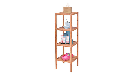Giantex four tier bamboo storage shelf