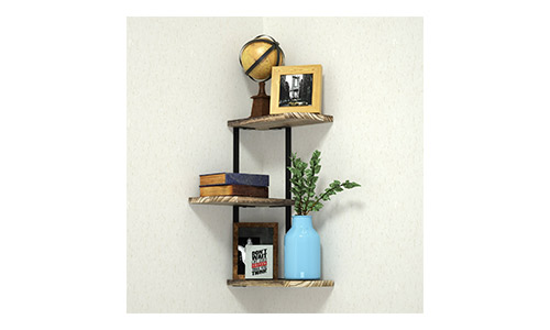 Love-KANKEI presents 3 Tier Wall Mount Rustic Wood Floating Shelves